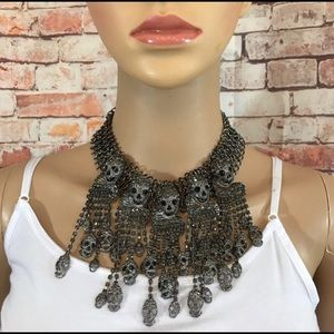 Jewelry - Anna Bell Skull Head Statement Necklace